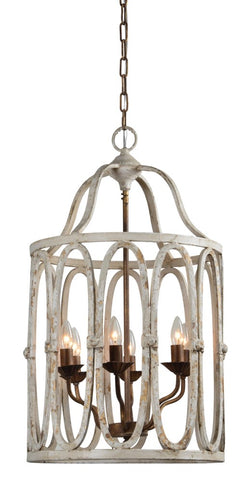 Natalie 6 Light Chandelier - Out of the Woodwork Designs