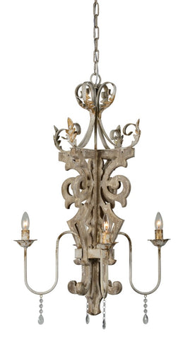 Hadley 4 Light Chandelier - Out of the Woodwork Designs