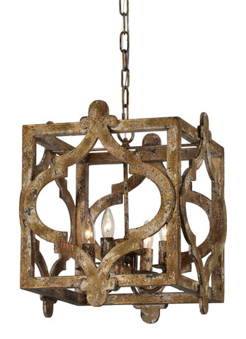 Caroline 4 Light Chandelier - Out of the Woodwork Designs