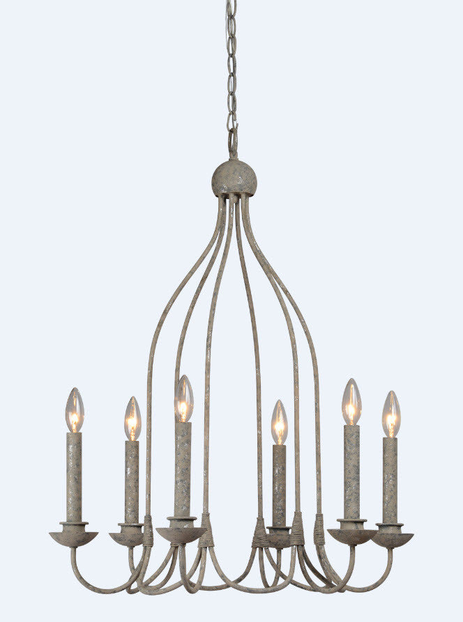 Savannah 6 Light Chandelier - Out of the Woodwork Designs