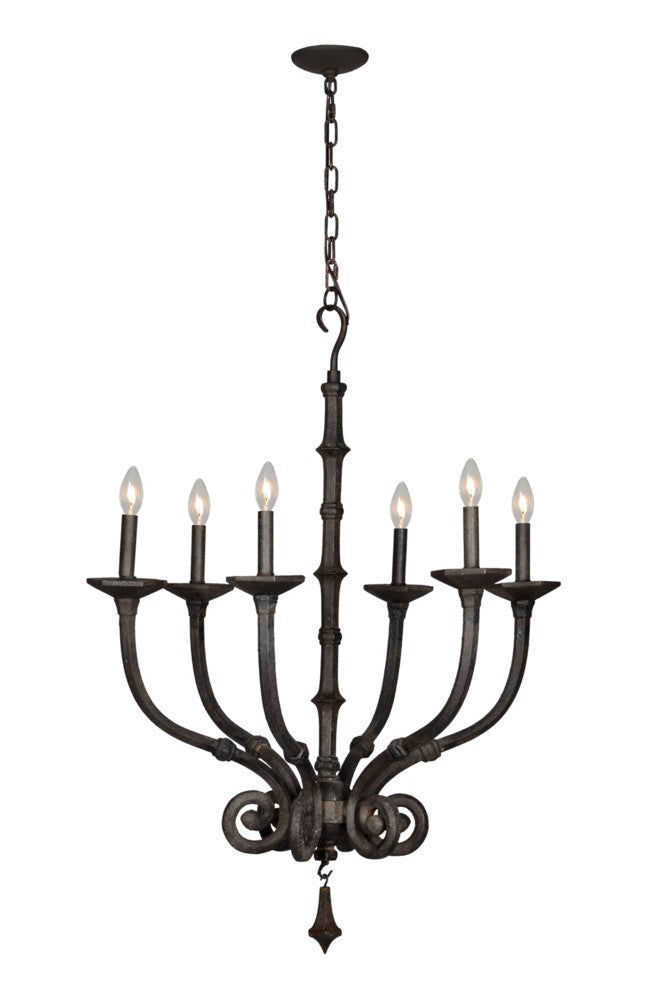 James 6 Light Chandelier* - Out of the Woodwork Designs