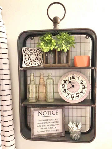 Metal Shelf with Loop