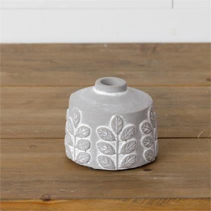 Leaf Cement Vase Short