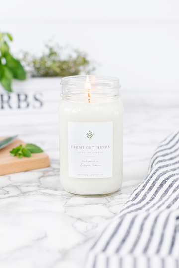 Fresh Cut Herbs 16oz Candle - Out of the Woodwork Designs
