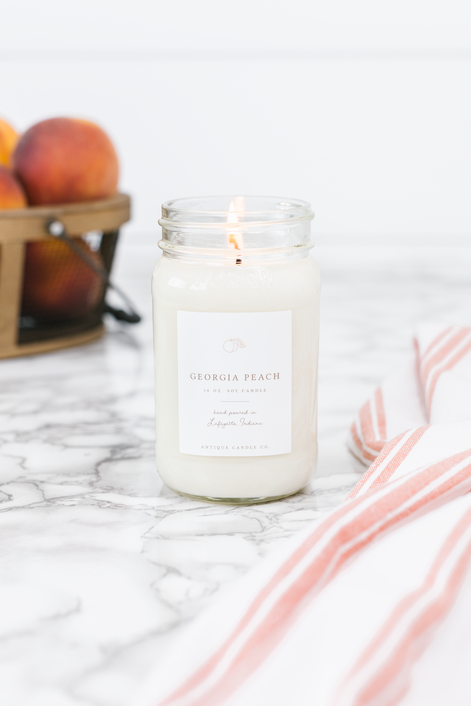 Georgia Peach 16 oz. Candle - Out of the Woodwork Designs
