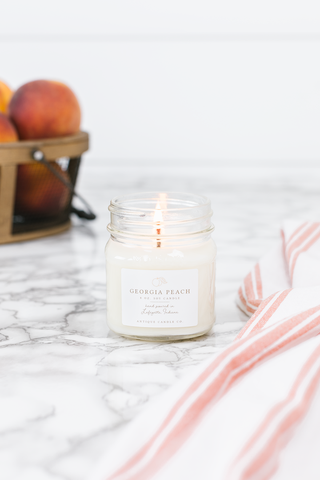 Georgia Peach 8 oz. Candle - Out of the Woodwork Designs