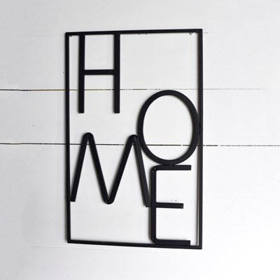 Tin Home Sign