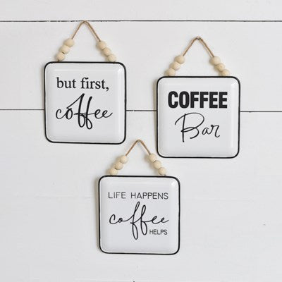 Beaded Coffee Signs- 3 Styles