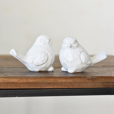 White Resin Bird