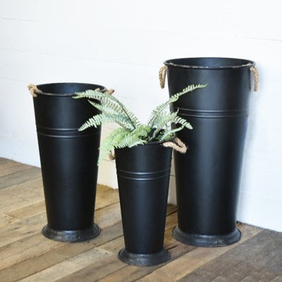 Old Black Tall Pot- 3 Sizes