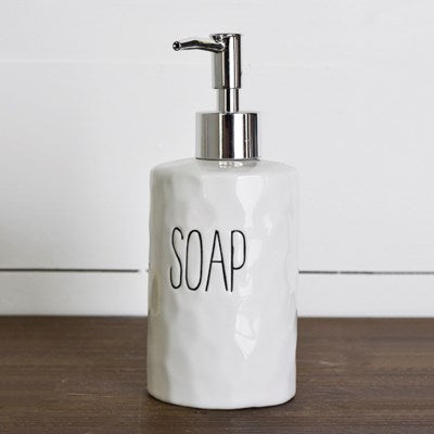 Soap Dispenser with Words