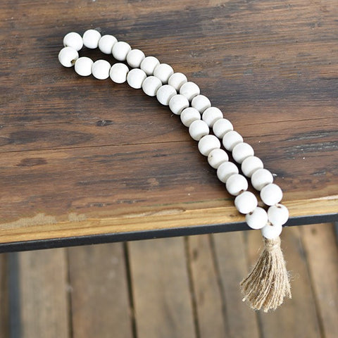 Washed Large Loop Bead with Tassel
