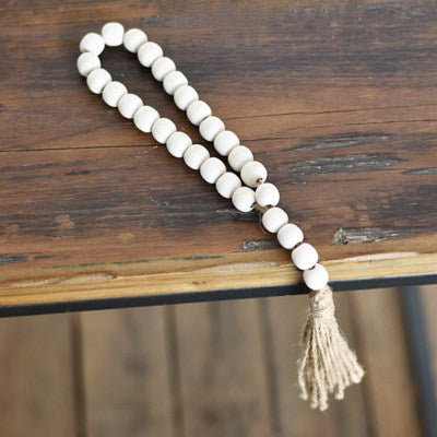 Short Washed Loop Bead with Tassel