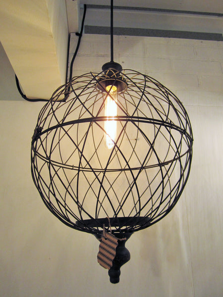 Wire Large Metal Globe Pendant Light - Out of the Woodwork Designs