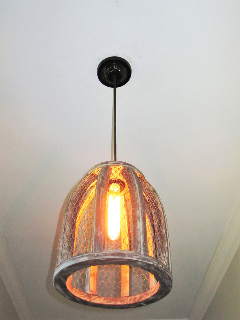 Chicken Wire Farmhouse Small Pendant Light