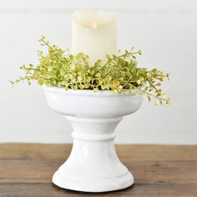 White Ceramic Riser/Candle Holder