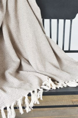 "Beige Throw- 60""x48"""