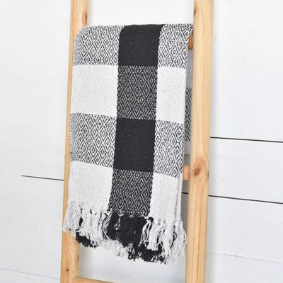 Black and White Buffalo Check Throw