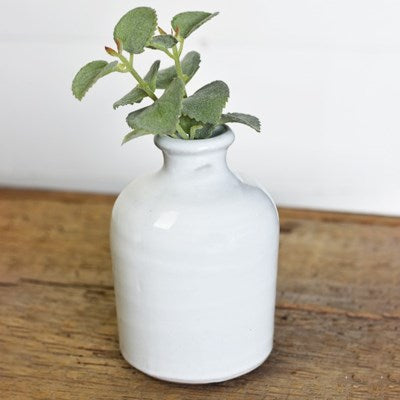 White Fat Vase - 2 Sizes