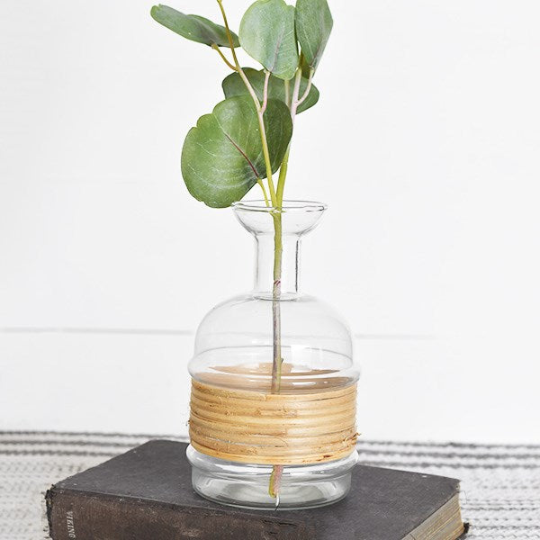 Glass Bottle with Bamboo - 2 Sizes