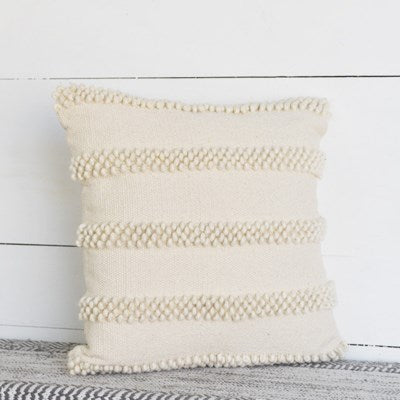 Beige Accent Stripe Pillow