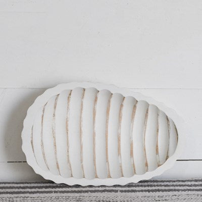 Stripe Pattern Wood Tray