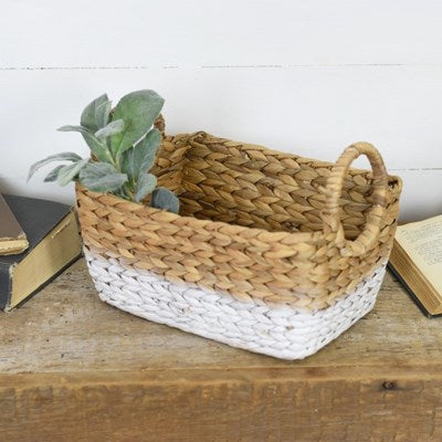 Storage Basket Brown and White