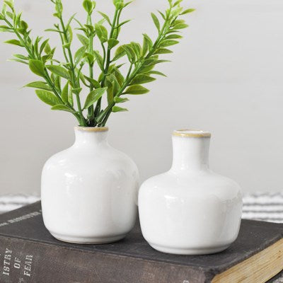Mini White Vases
