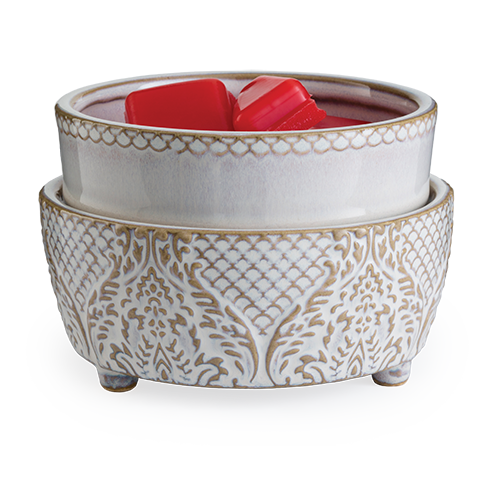 Vintage White 2-in-1 Wax / Candle Warmer- Classic