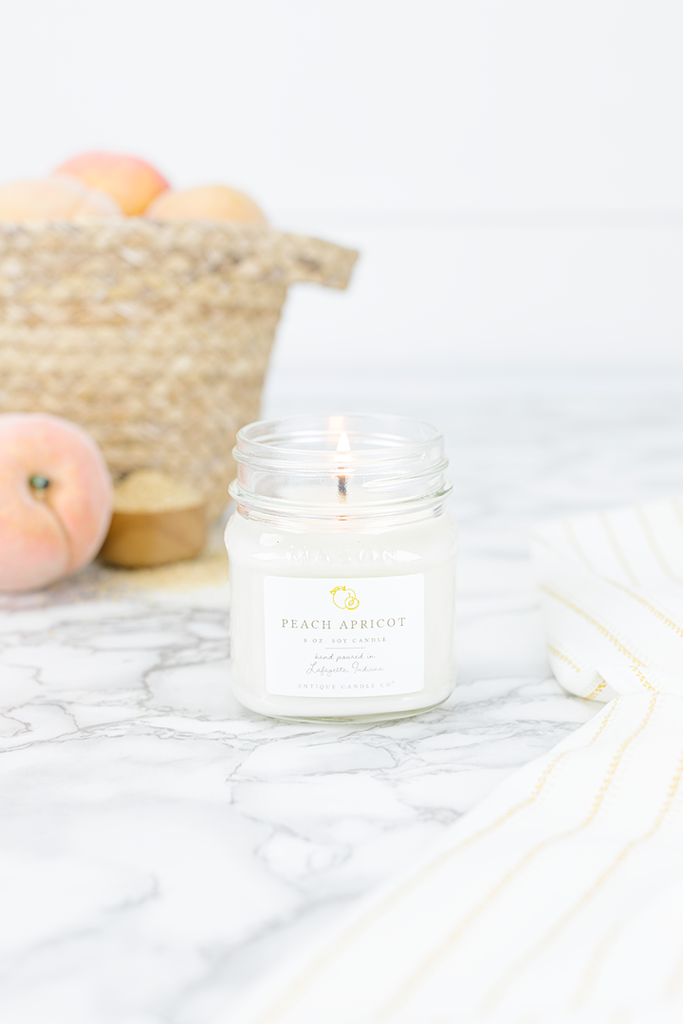 Peach Apricot 8oz. Candle
