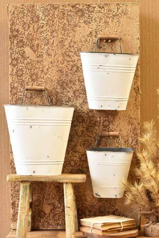 Wall Bucket White Medium