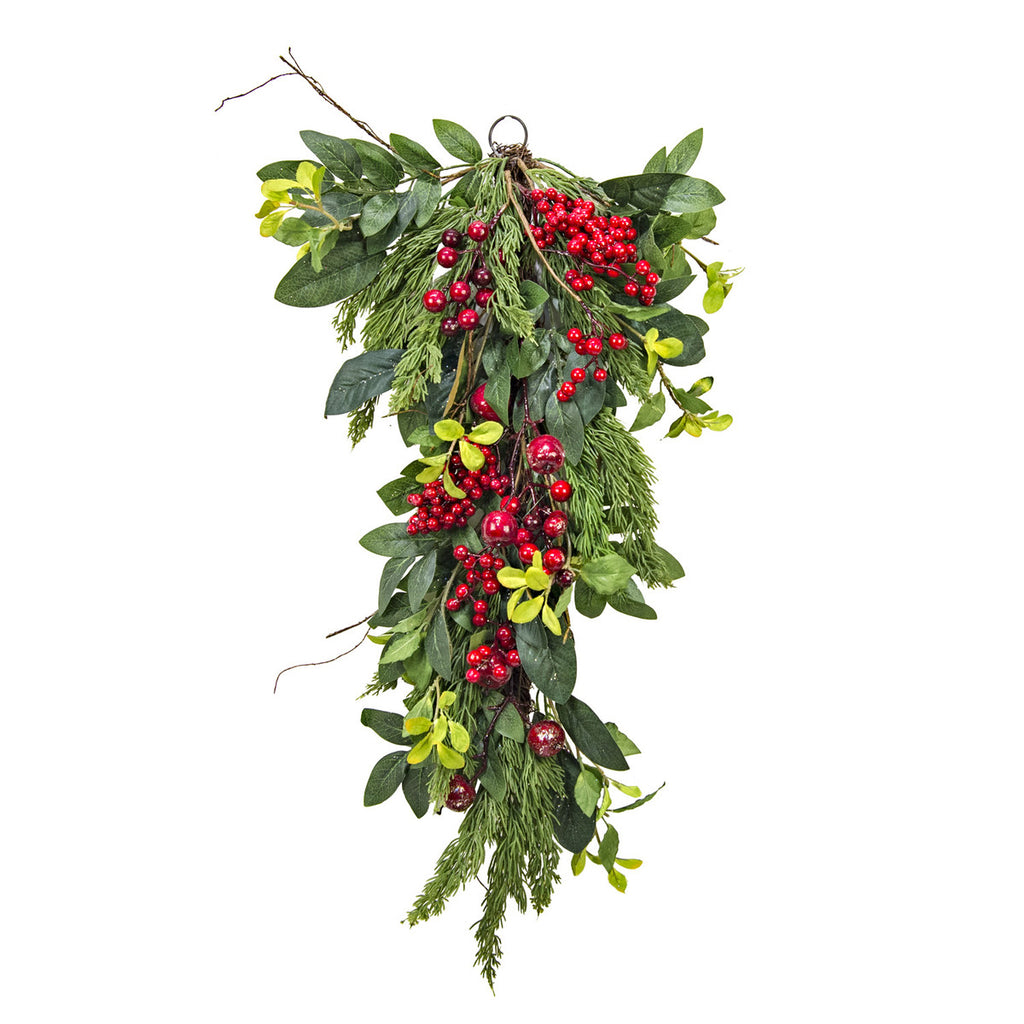 Cedar and Red Berry Bough - Out of the Woodwork Designs