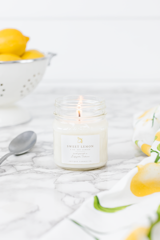 Sweet Lemon 8 oz Candle
