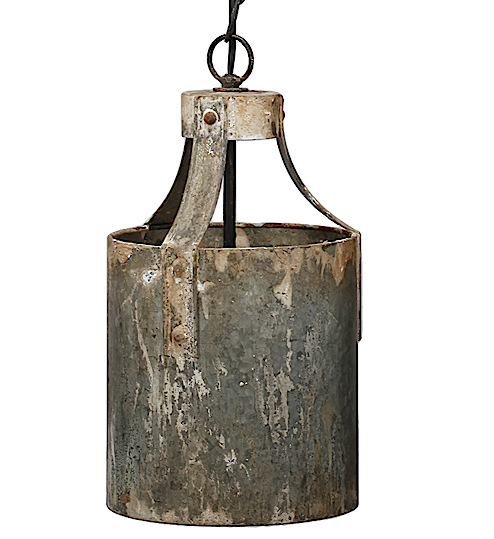 Weathered Metal Pendant Light - Out of the Woodwork Designs