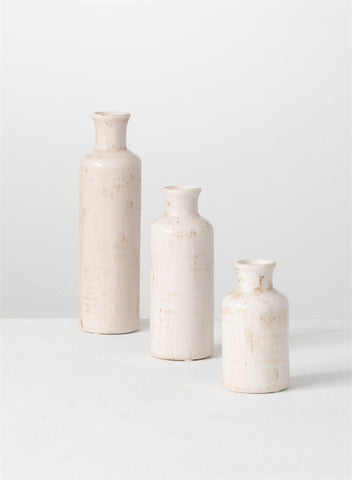 Ceramic Bottle Vases - 3 Sizes