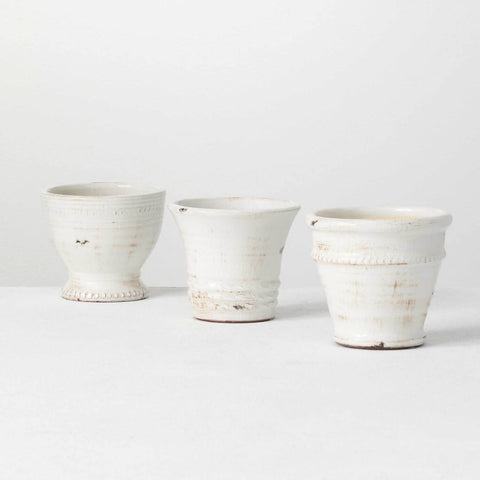 Small Crackle Pots 3 Asst