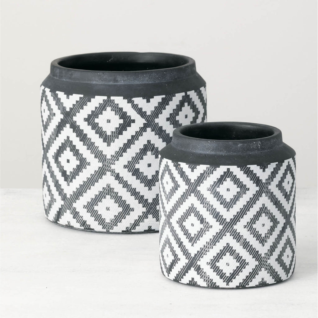 Aztec Flower Pots 2 Sizes
