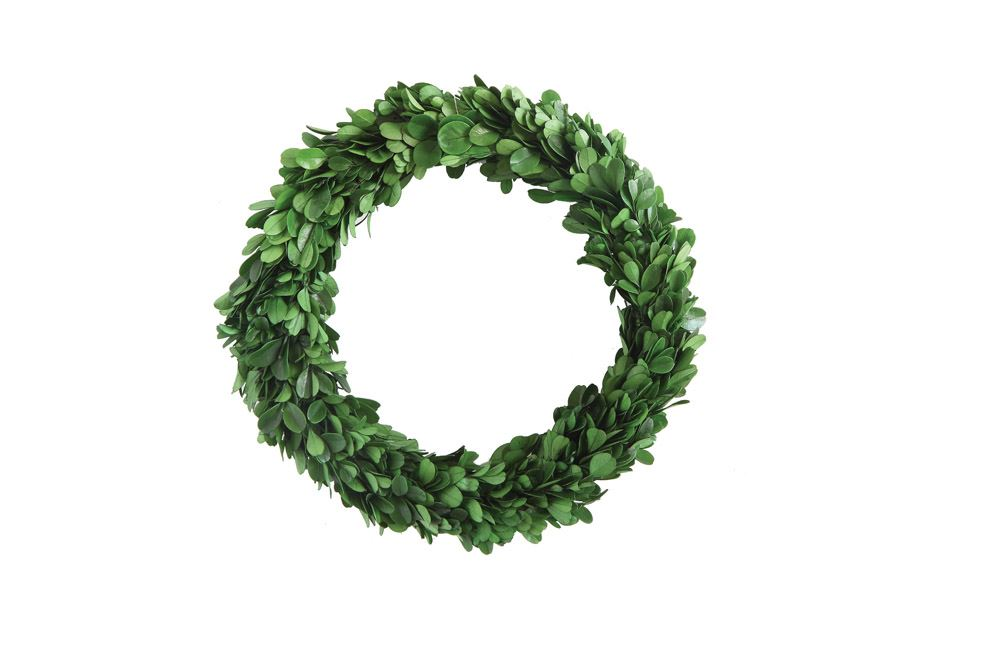 "9"" Preserved Boxwood Wreath - Out of the Woodwork Designs"