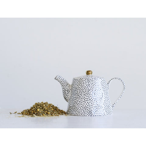 Black Dot Tea Pot - Out of the Woodwork Designs