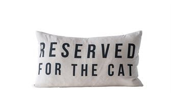 Reserved for the Cat Pillow - Out of the Woodwork Designs