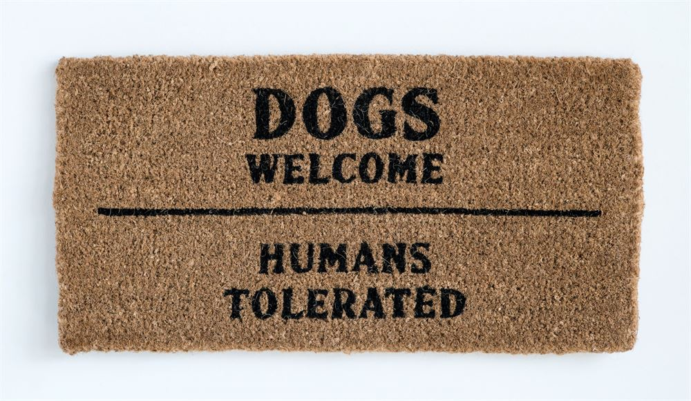 Dogs Welcome Doormat - Out of the Woodwork Designs