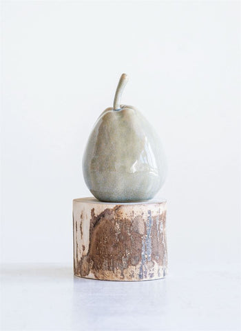 Glazed Stoneware Pear - Out of the Woodwork Designs