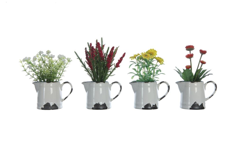 Flowers in Ceramic Pitcher* - Out of the Woodwork Designs