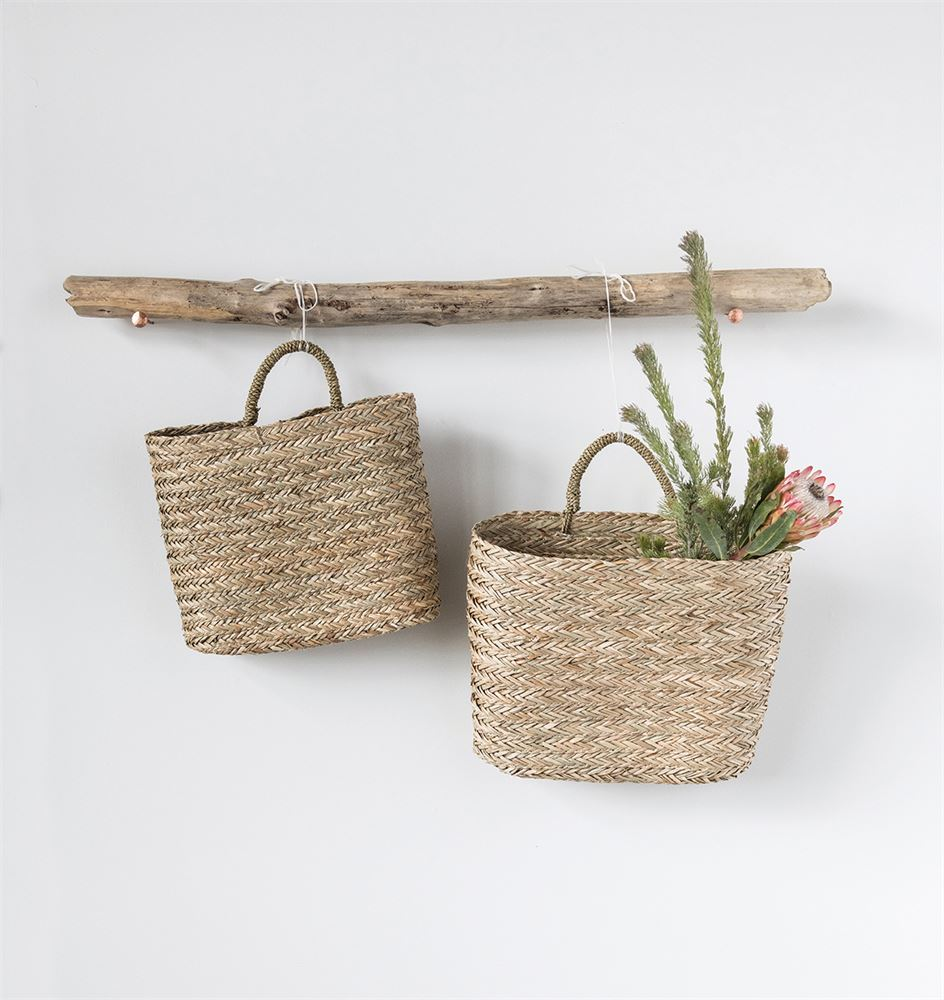 Seagrass Wall Basket -Small