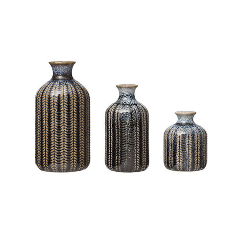 Stoneware Vase-Blue - 3 Sizes