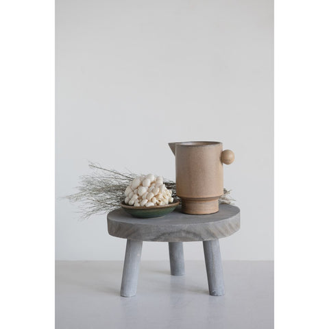 Grey Wash Wood Pedestal