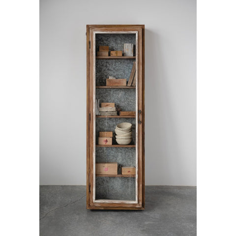 Wood Cabinet with Shelves