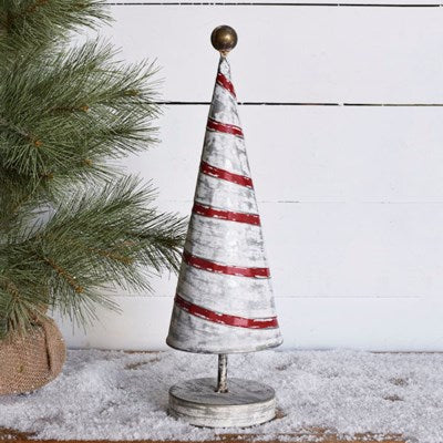 Red Striped Christmas Tree - 2 Sizes
