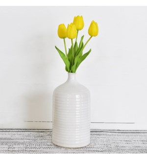 Ribbed Ceramic Vase -Large