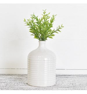 Ribbed Ceramic Vase- Small